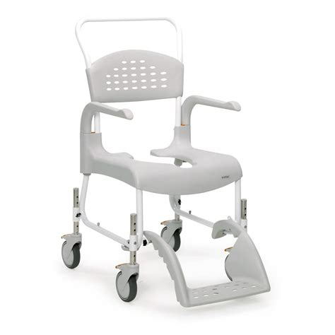 chaise de clean etac clean wheeled shower commode chair buy cheaply
