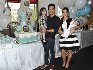 Mario Lopez introduces two-month-old son Dominic and says