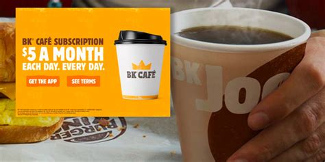 Drop us a dm to talk about your food. Burger King launches $5-a-month coffee subscription ...