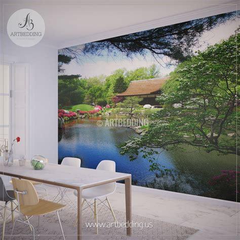 japanese garden wall mural photo mural japanese tea house
