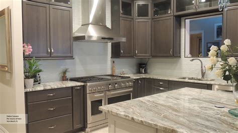 gray kitchen white cabinets gray cabinets with an off white kitchen island omega