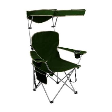 Folding Patio Chairs Home Depot by Quik Shade Forest Green Folding Patio Chair With Sun Shade