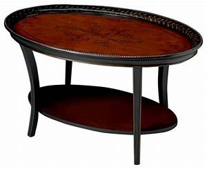 artists39 originals traditional red and black 22quot oval With red oval coffee table