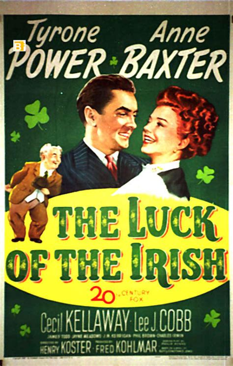 """luck Of The Irish, The"" Movie Poster  ""the Luck Of The Irish"" Movie Poster"
