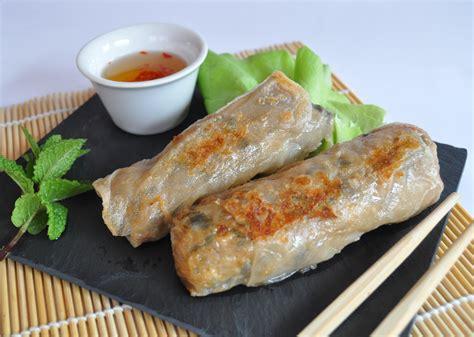 recette de cuisine asiatique nems au poulet et aux crevettes en pas à pas