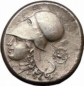 CORINTH 375BC Quality Ancient Silver Greek Coin ATHENA ...