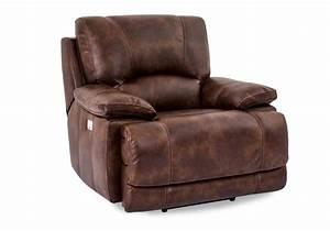 Berkshire banner pecan power recliner w power headrest for Berkshire recliners