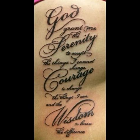 serenity prayer tattoo designs  moving
