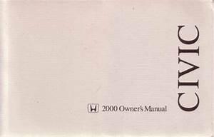 2000 Honda Civic Hatchback Owner Owner U0026 39 S User Guide Manual