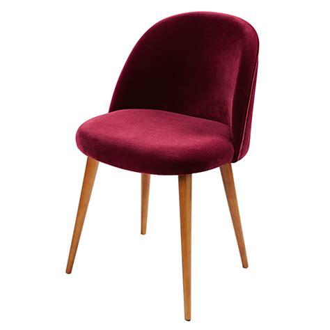 chaise maisons du monde burgundy velvet vintage chair mauricette maisons du monde