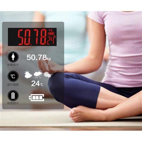 timbangan badan digital dengan indikator suhu taffware