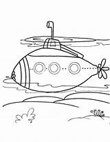 Submarine Coloring Pages Modern Drawing Printable Sheets Crafts Craft Ocean Bestcoloringpages Easy Transportation Sea Yellow Stencil Getdrawings sketch template