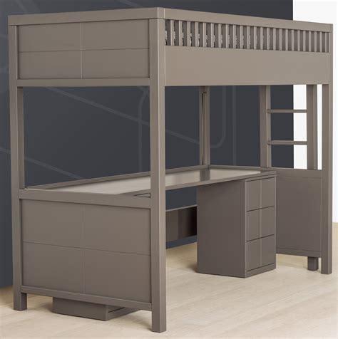lit gigogne avec bureau lit mezzanine quarr avec bureau rabattable quax marques