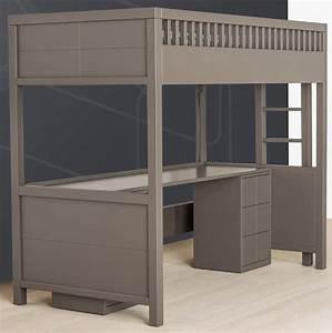 Lit Mezzanine Quarr Avec Bureau Rabattable Quax Marques