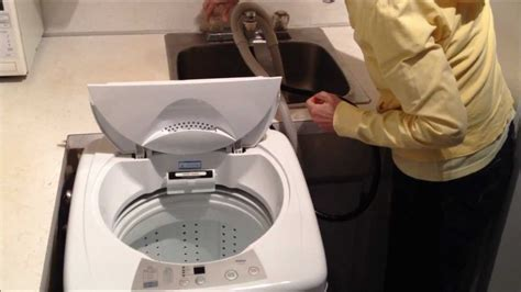 sink hookup washer and dryer haier hlp23e portable washer review youtube