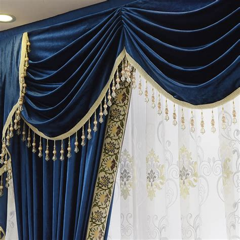 Blue Swag Curtains by 25 Best Ideas About Velvet Curtains On Dusky