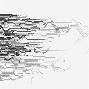 Linhas De Tecnologia Criativa Placa De Circuito Diagrama