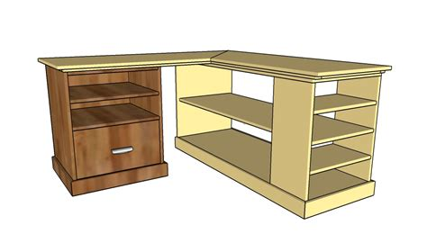 diy corner desk plans corner desk plans howtospecialist how to build step