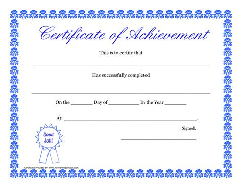 Ms Word Certificate Template Award Templates Word Exle Mughals