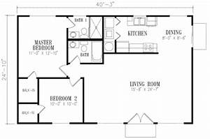 Mediterranean Style House Plan - 2 Beds 2 Baths 1000 Sq/Ft ...