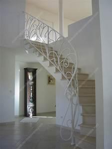 Rampe D Escalier Moderne : rampes d 39 escalier en fer forg art nouveau mod le liane ~ Melissatoandfro.com Idées de Décoration