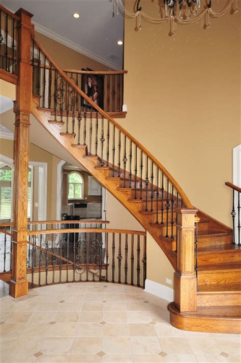 Basement Bathrooms Ideas by Interior Staircase Traditional Staircase Chicago