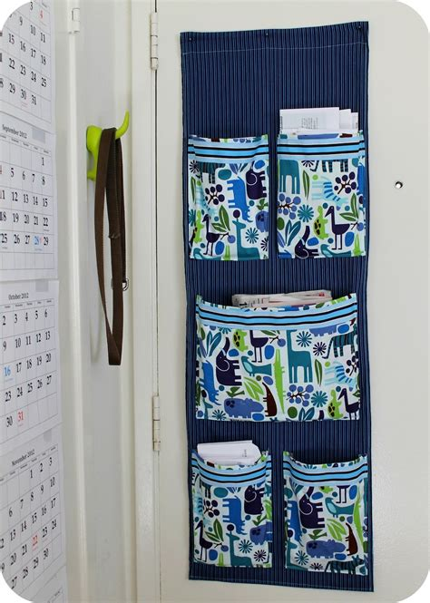 DIY Sew a Fabric Wall Mail Organizer for the Project