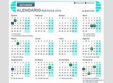 Calendario laboral 2019 de Asturias días festivos y