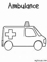 Ambulance Coloring Printable Transport Driver Printablefreecoloring Transportation Coloriage Drawing Sketch Coloriages Template sketch template