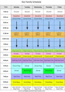 Printable Homeschool Daily Schedule