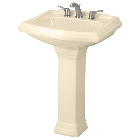 bone colored kitchen faucets gerber allerton pedestal combo bathroom sink in bone 4860