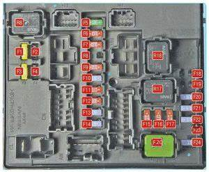 Nissan Juke  2011 - 2017  - Fuse Box Diagram