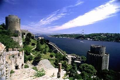 Istanbul Turkey Rumeli Mehmet Bosphorus Fatih Bridge