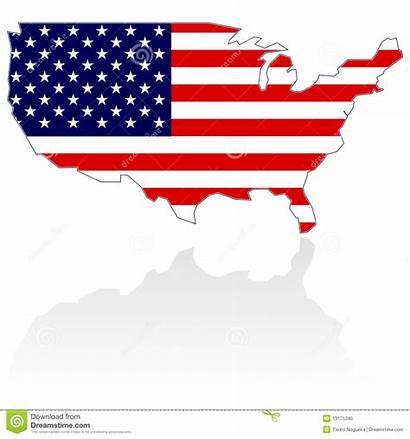 Vlag Kaart Verenigde Staten Staaten Vereinigte Kennzeichnen