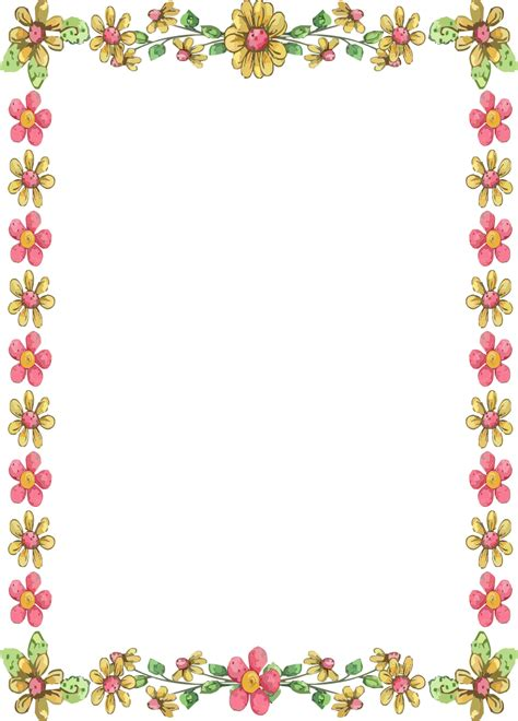border designs with flowers flower borders for word document clipart best