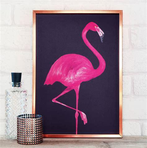 Flamingo Print By Paper Plane