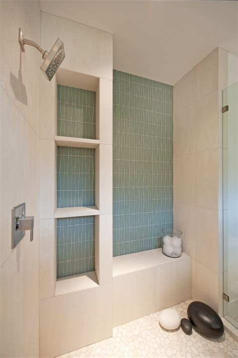 Delightful Shower Shelves Built Bathroom Contemporary with