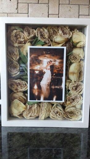 shadow box wedding picture bouquet wedding ideas