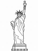 Liberty Statue Coloring Pages France Sculpture Drawing Step Printable Easy Endearing Preschool Getdrawings Getcolorings sketch template
