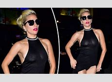 Lady Gaga flashes her bare breasts and knickers in