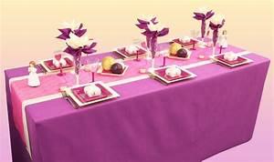 Deco De Table Communion : d coration de table communion violet fuchsia et cru d corations f tes ~ Melissatoandfro.com Idées de Décoration