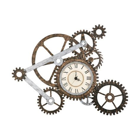 Home Decorators Collection Gear Wall Art with Clock GA1912