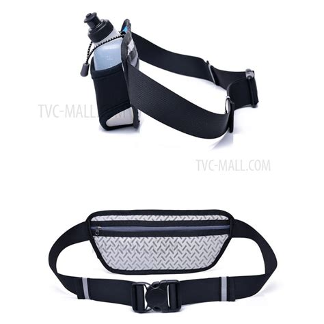 free outdoor sports running waist bag with water
