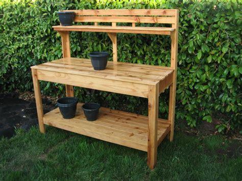 simple garden work bench plans plans diy