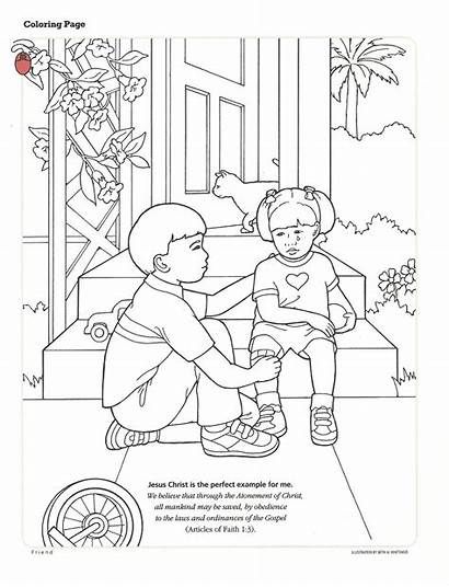 Coloring Lds Pages Primary Forgiveness Lessons Activity