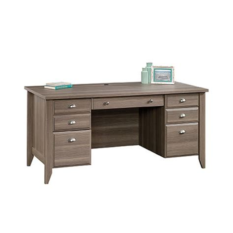 Sauder Executive Desk Jamocha by Sauder Shoal Creek Executive Desk In Jamocha Wood
