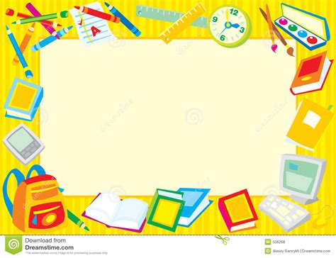 School Supplies Clipart Border