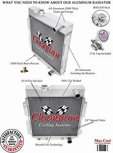 1960  Pickup Trucks Aluminum 3 Row Champion Radiator