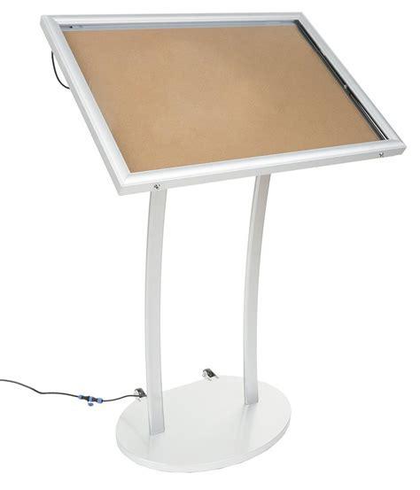 Menu Display Stand   Illuminated Bulletin Board for Floor