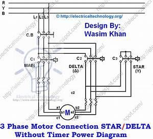 Star-delta Starter Motor Starting Method